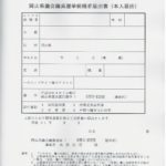 立候補届出書類の事前審査で提出した書類